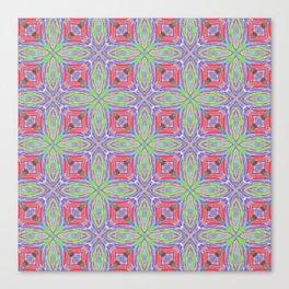 Fields of Strawberry Crisscross Pattern Design Canvas Print