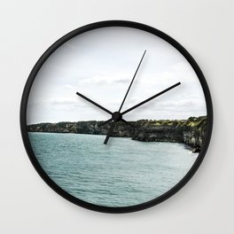 Cliffs of Normandy Wall Clock