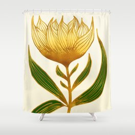Summer Sunflower with Metallic Accents Shower Curtain