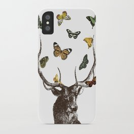The Stag and Butterflies iPhone Case