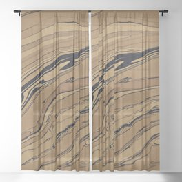 Topaz and Sandstone Sheer Curtain
