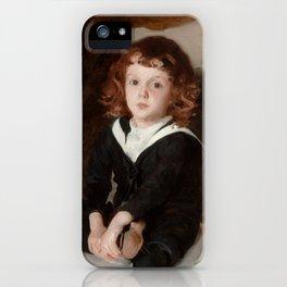 """John Singer Sargent """"Portrait of Laurence Millet"""" iPhone Case"""