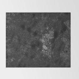Luxury Black Marble Throw Blanket