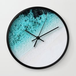 Turquoise Ocean Wall Clock