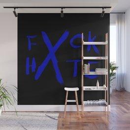 FXCK HXTE - Blue Paint Wall Mural