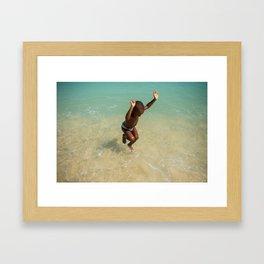 Because i'm happy Framed Art Print