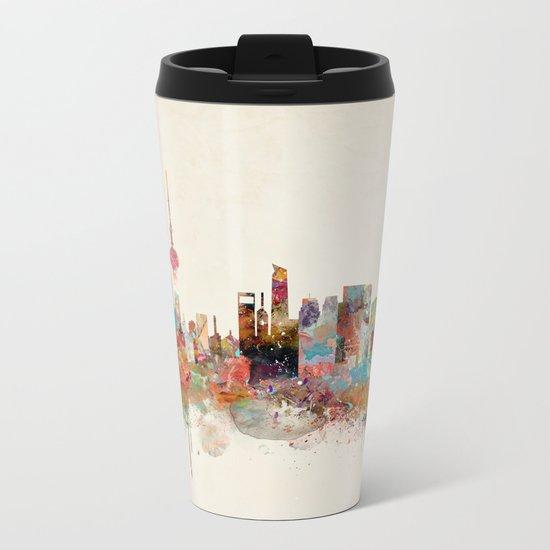 shanghai city skyline Metal Travel Mug