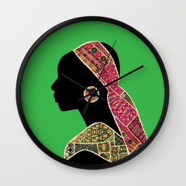 Woman Africa Wall Clock