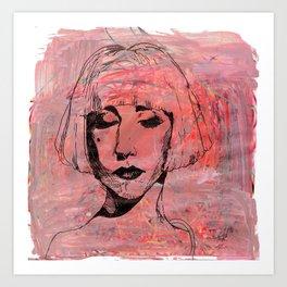 the lady  Art Print