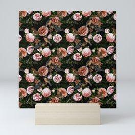 Vintage & Shabby Chic - Blush Camellia & Kingfishers Mini Art Print
