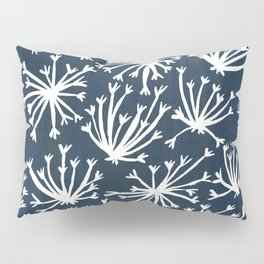 Queen Anne's Lace – White on Navy Pillow Sham