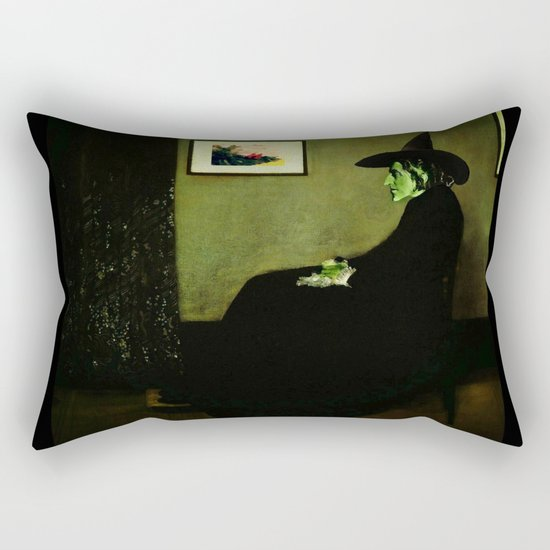 Wizzler's Mother  |  Wicked Witch Rectangular Pillow
