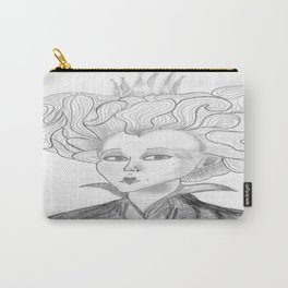 Queen of Hearts from Alice in Wonderland Original Pencil on Paper Carry-All Pouch