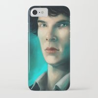 sherlock holmes iPhone & iPod Cases featuring Sherlock Holmes by Elzart