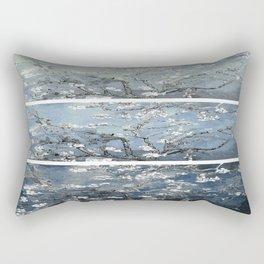 Vincent Van Gogh : Almond Blossoms Panel Art Blue Steel Teal Rectangular Pillow