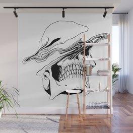 Skull (Liquify) Wall Mural