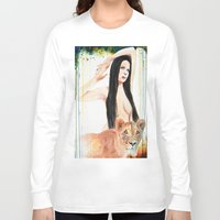 girl power Long Sleeve T-shirts featuring Girl Power by Beth Michele
