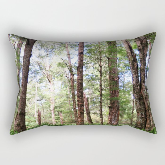 New Zealand Birch Forest Rectangular Pillow