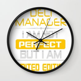 DELI-MANAGER Wall Clock