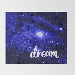 Blue Galaxy Dream Throw Blanket