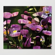 Abstract Wldflowers Canvas Print