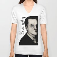 moriarty V-neck T-shirts featuring Moriarty by LiseRichardson