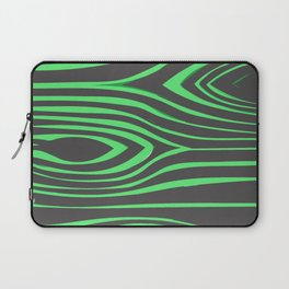 Green Wood Pattern On Gray Background #society6 Laptop Sleeve