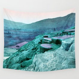 Fantasy Pulpit Terraces Periwinkle Mint Wall Tapestry