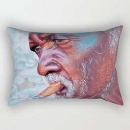 He was there everyday Rectangular Pillow