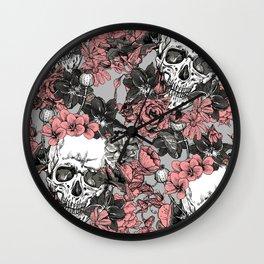 SKULLS 3 HALLOWEEN Wall Clock