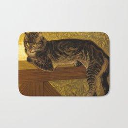 """Théophile Steinlen """"Cat on a Balustrade"""" Bath Mat"""