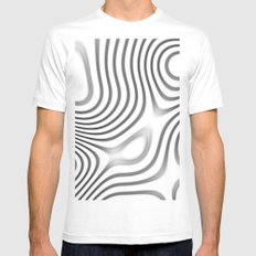Organic Abstract 01 WHITE White Mens Fitted Tee MEDIUM