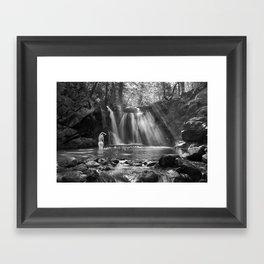 Crystal Creek Falls Self Portrait Framed Art Print
