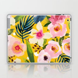 No Winter Lasts Forever; No Spring Skips It's Turn #painting #botanical Laptop & iPad Skin