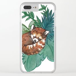 Petit panda roux Clear iPhone Case