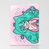 vocaloid Stationery Cards featuring Vocaloid: Love Miku by Alice In Underwear