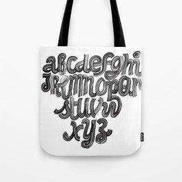 Fluffy Alphabet Tote Bag