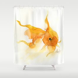 Watercolor Goldfish 1 Shower Curtain