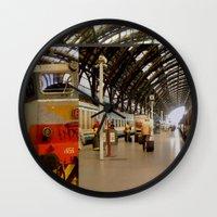 milan Wall Clocks featuring milan glitch by Martin Summers