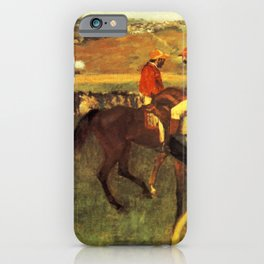 The Racecourse Amateur Jockeys 1880 By Edgar Degas | Reproduction | Famous French Painter iPhone Case