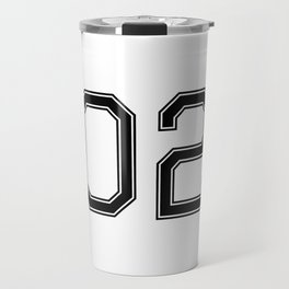 Number 2 American Football, Soccer, Sports Design Travel Mug