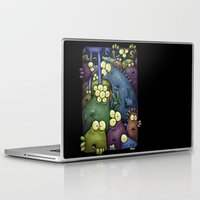 aliens Laptop & iPad Skins featuring Crowded Aliens by Billy Allison
