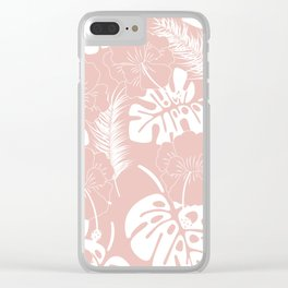 Tropical pattern 020 Clear iPhone Case