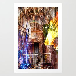 N-Glext Light and Dark Dispute Art Print