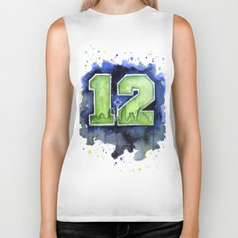 Seattle 12th Man Art Biker Tank