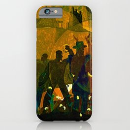 From Slavery thru Reconstruction - 135th Street Public Mural NY Public Library by Aaron Douglas iPhone Case