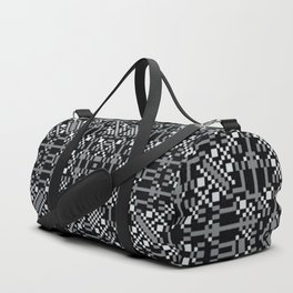 A tall white fountain played. Duffle Bag