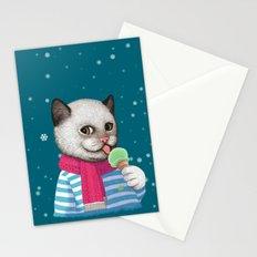 Ice cream & Snow Stationery Cards