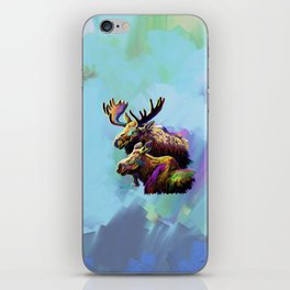 Colorful Moose iPhone Skin