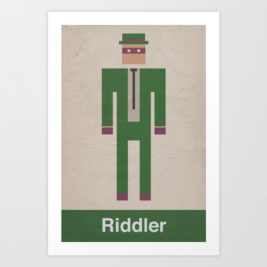 Retro Riddler Art Print